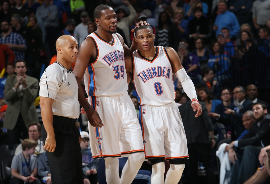 NBA : Durant et Westbrook tombent les Warriors