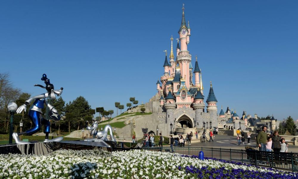 A general view shows the Sleeping Beauty Castle as Disneyland - originally Euro Disney Resort - marks the 25th anniversary on March 16, 2017 in Marne-La-Vallee, east of the French capital Paris. The 25th anniversary celebrations will begin on March 26, 2017 with parades, various shows and a firework's display. BERTRAND GUAY / AFP