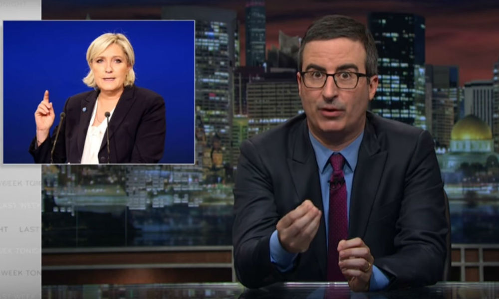 "John Oliver dans son émission ""Last Week Tonight"" sur HBO, le 16 avril 2017"
