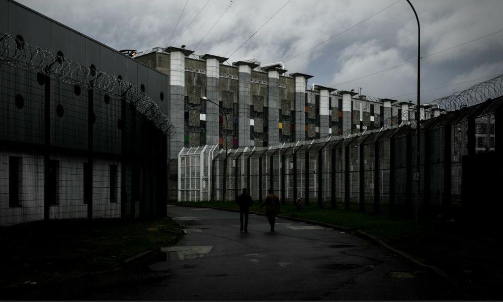 The Fleury-Merogis prison, the largest prison in Europe located in the town of Fleury-Merogis some 30 kms south of the French capital Paris, is pictured on December 14, 2017.  Philippe LOPEZ / AFP