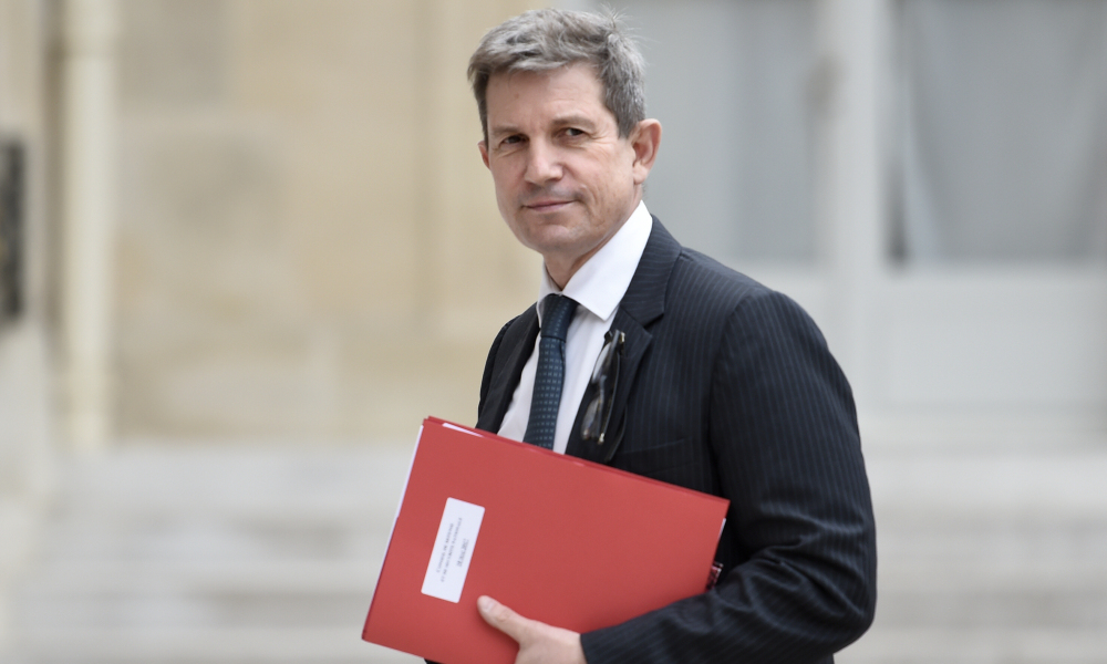 French General Secretary for Defence and National Security Louis Gautier arrives at the Elysee Presidential Palace in Paris on May 18, 2017 for the first defence council of the new French president.  STEPHANE DE SAKUTIN / AFP
