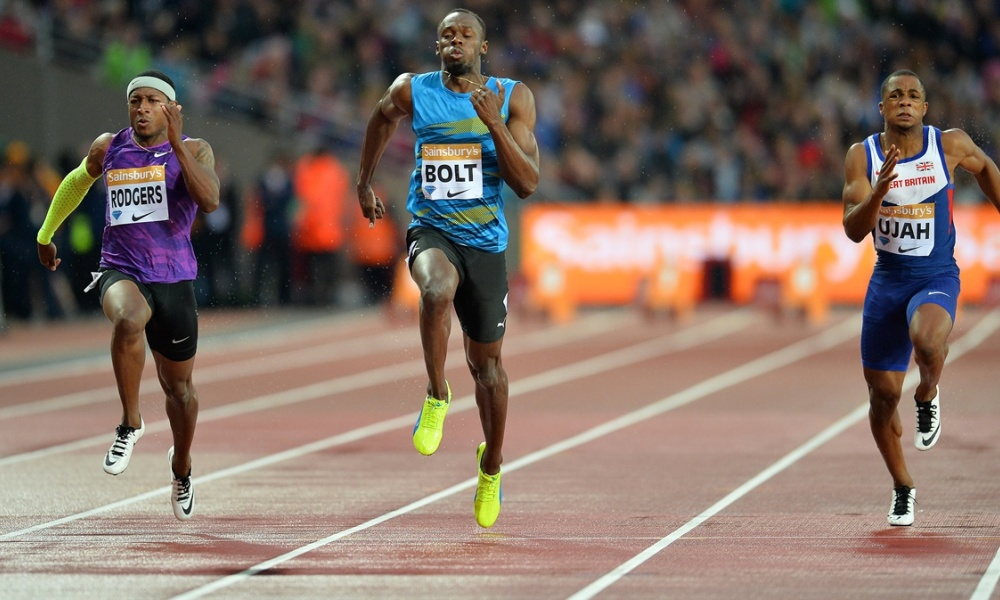 Meeting de Londres : Bolt étincelant en séries