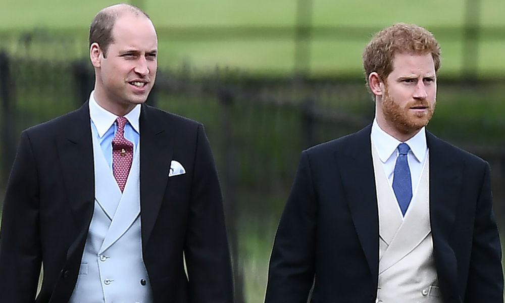 Les princes William et Harry au mariage de Pippa Middleton à Englefield en 2017