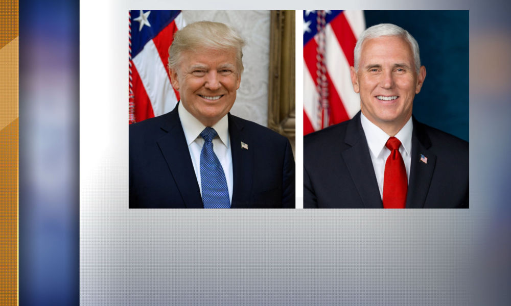 Donald Trump et Mike Pence ont leur portrait officiel.