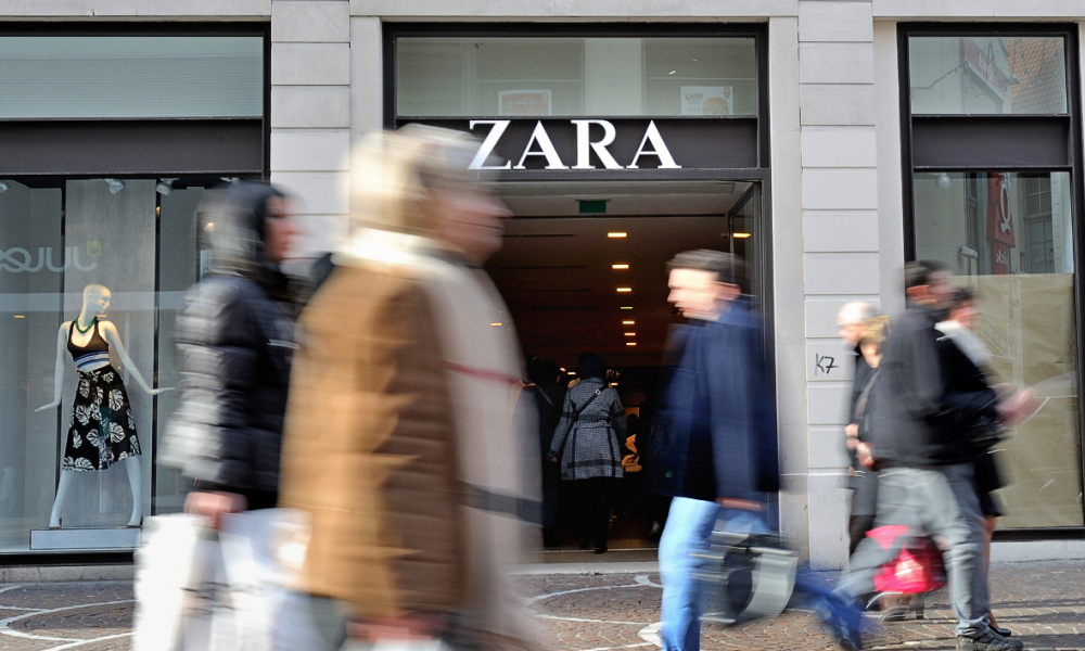L'entrée d'un magasin Zara (image d'illustration).