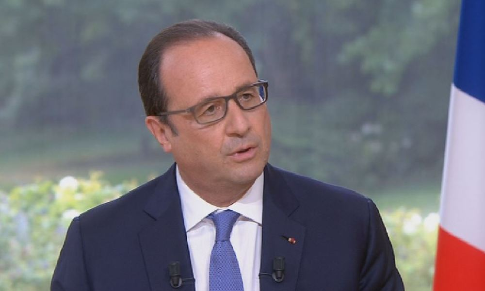 François Hollande lors de son interview, le 14 juillet 2015.
