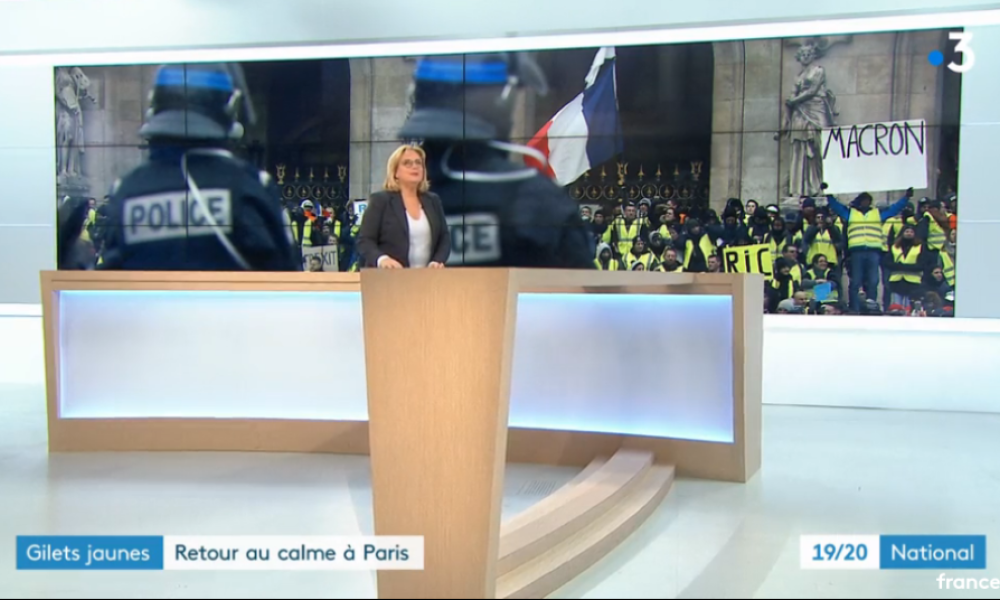 Capture d'écran  du JT de France 3