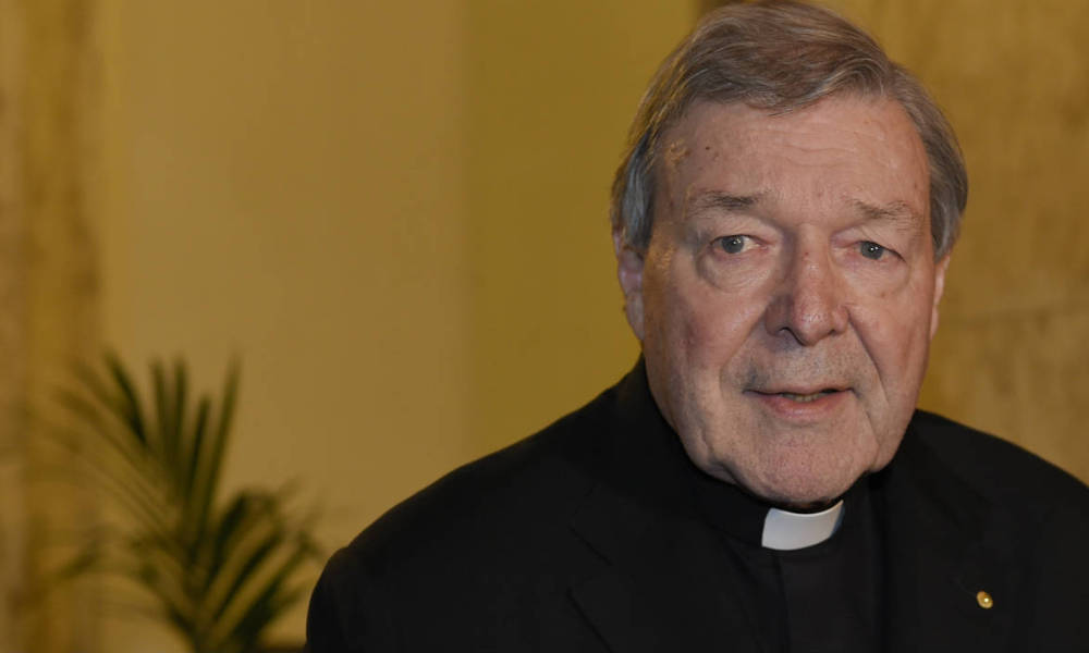 "Vatican finance chief Cardinal George Pell speaks to the media at the Quirinale hotel in Rome on March 3, 2016 at the end of evidence via video-link to Australia's Royal Commission into Institutional Responses to Child Sexual Abuse in Sydney for a second of three days. Pell insisted he has the ""full backing"" of Pope Francis as he told an inquiry that abuse claims against Australia's most notorious paedophile priest were not ""of much interest"" to him."