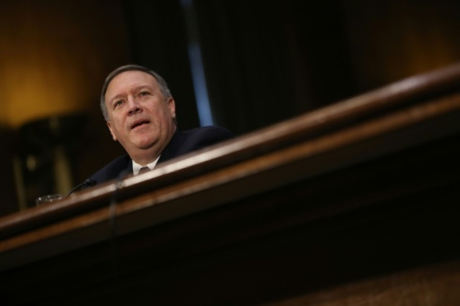 Le secrétaire d'Etat américain Mike Pompeo à Washington, le 12 janvier 2017 - JOE RAEDLE, GETTY IMAGES NORTH AMERICA/AFP/Archives