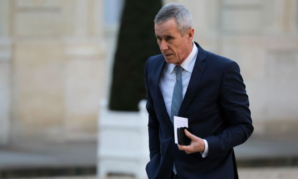 Paris prosecutor Francois Molins arrives to attend the French president's New Year wishes to the French Parliament's Bureaux (collegial autorities), Paris Council, constituent bodies, driving forces of the nation and heros of 2017 at the Elysee Palace in Paris on January 30, 2018.  LUDOVIC MARIN / AFP