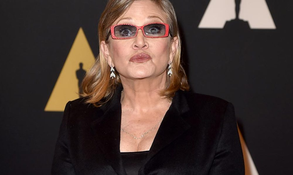 Actress Carrie Fisher attends the Academy of Motion Picture Arts and Sciences' 7th annual Governors Awards at The Ray Dolby Ballroom at Hollywood & Highland Center on November 14, 2015 in Hollywood, California.