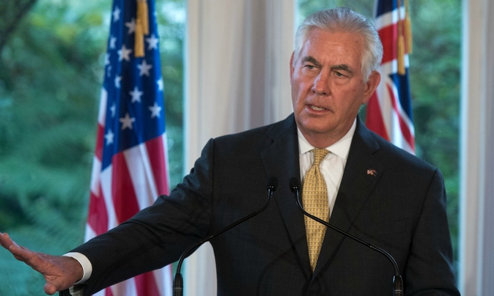 US Secretary of State Rex Tillerson speaks to the media during a joint press conference with New Zealand's Prime Minister Bill English at Premiere House in Wellington on June 6, 2017.  Marty MELVILLE / AFP