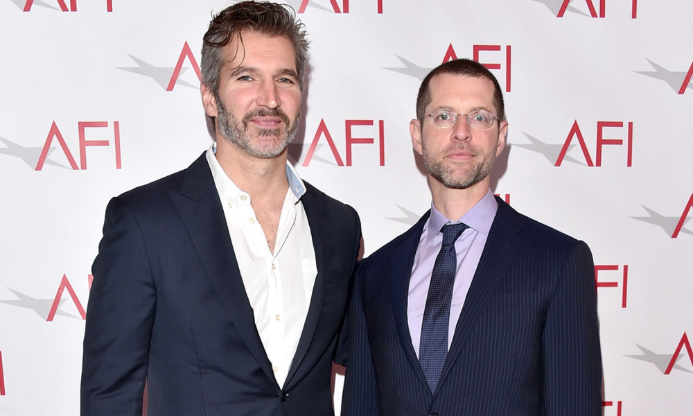 David Benioff and Dan Weiss à Los Angeles le 6 janvier 2017