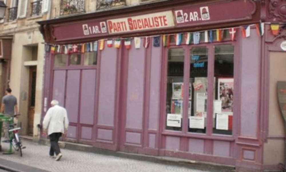 Un local du Parti socialiste dans le deuxième arrondissement de Paris, rue Montorgueil. (Photo d'illustration)