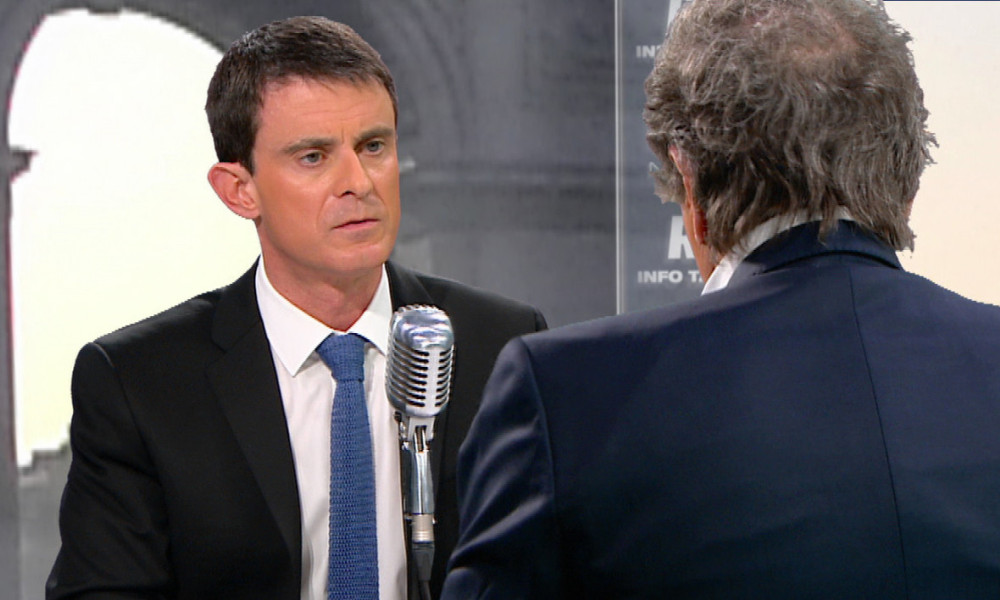 "Manuel Valls invité de Jean-Jacques Bourdin dans son émission ""Bourdin Direct"""