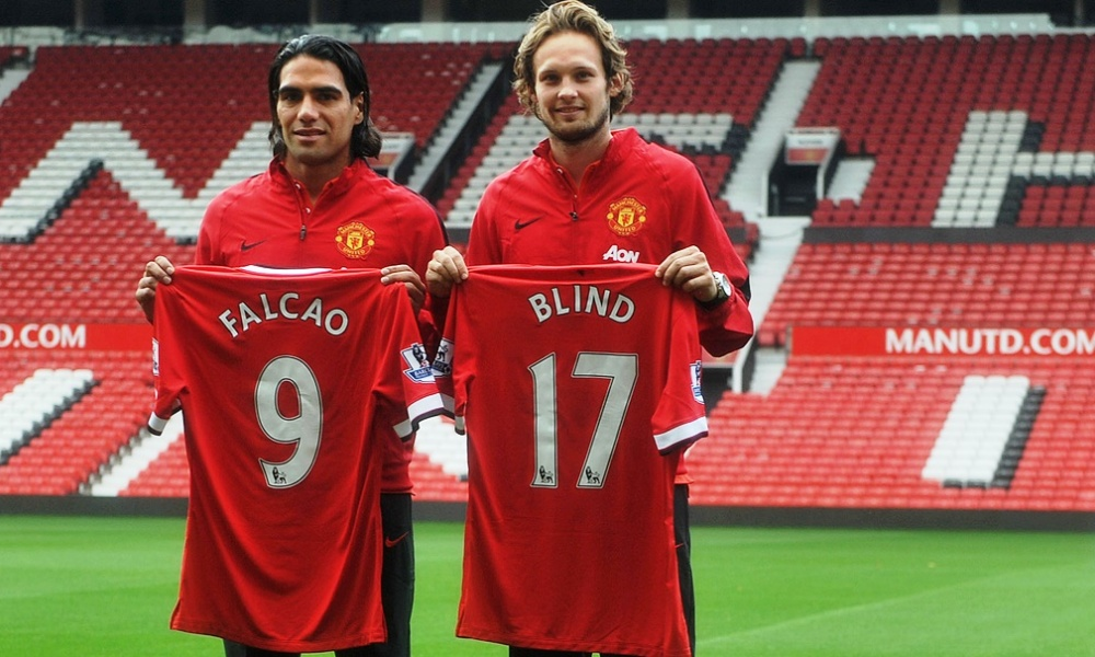Radamel Falcao et Daley Blind