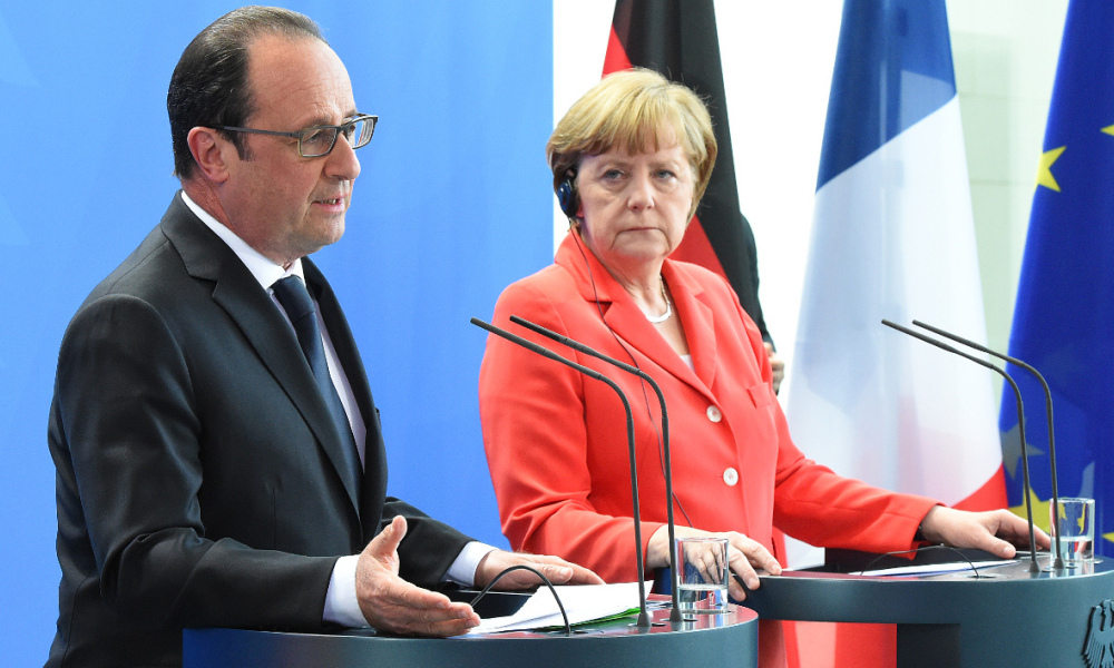 François Hollande et Angela Merkel. (Ilustration)