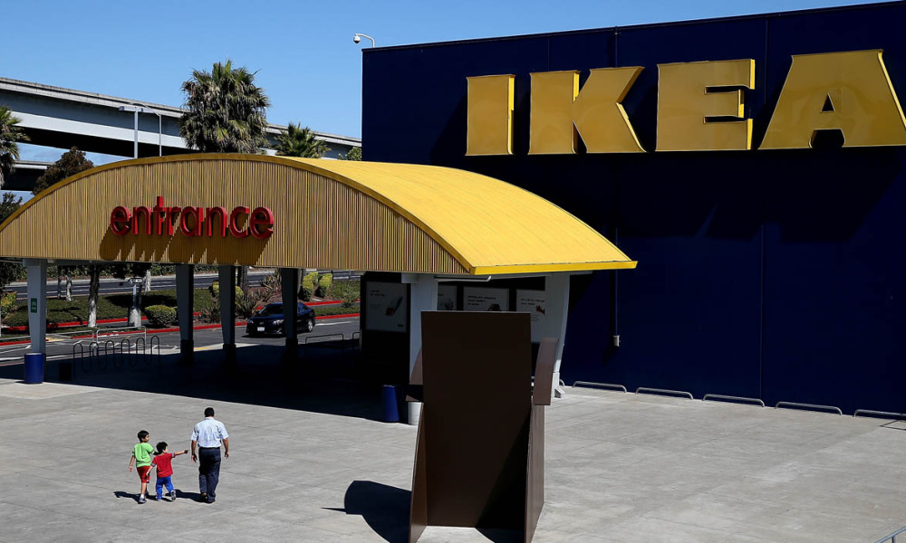 Magasin Ikea en Californie. (illustration)