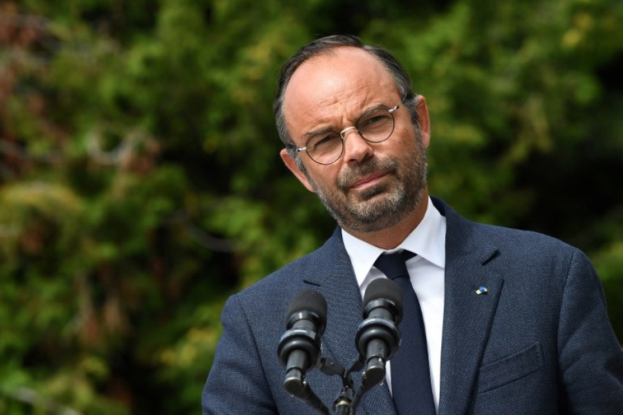 In this file photo taken on August 29, 2018 French Prime Minister Edouard Philippe speaks during a visit in Chaillol. Edouard Philippe announces on September 4, 2018 the key reform to the way taxes will be collected. The government has pledged to follow the example of most European countries by collecting income tax from workers at source starting in January 2019, instead of waiting for them to file their own tax declarations.