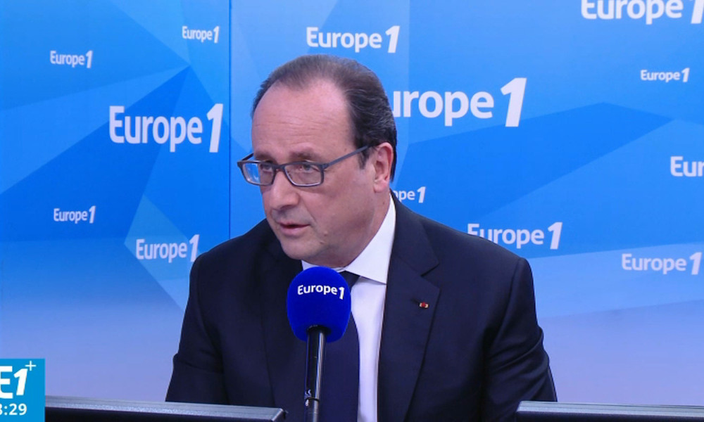 François Hollande sur Europe 1, le 17 mai 2016.