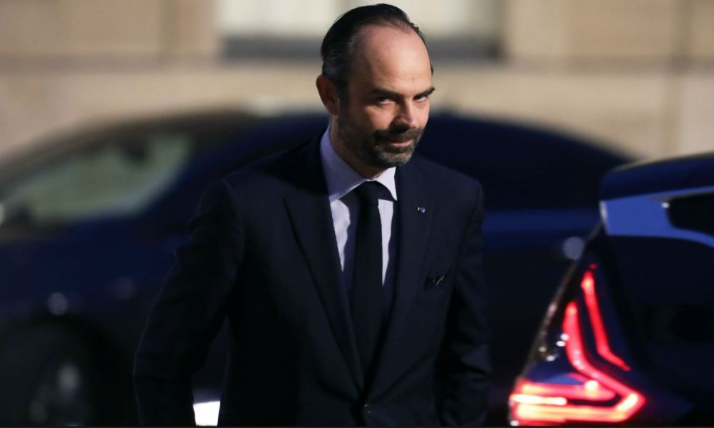 French Prime Minister Edouard Philippe arrives to attend the French president's New Year wishes to the French Parliament's Bureaux (collegial autorities), Paris Council, constituent bodies, driving forces of the nation and heros of 2017 at the Elysee Palace in Paris on January 30, 2018.  Ludovic MARIN / AFP