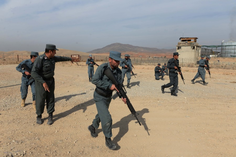 Policiers afghans (photo d'illustration).