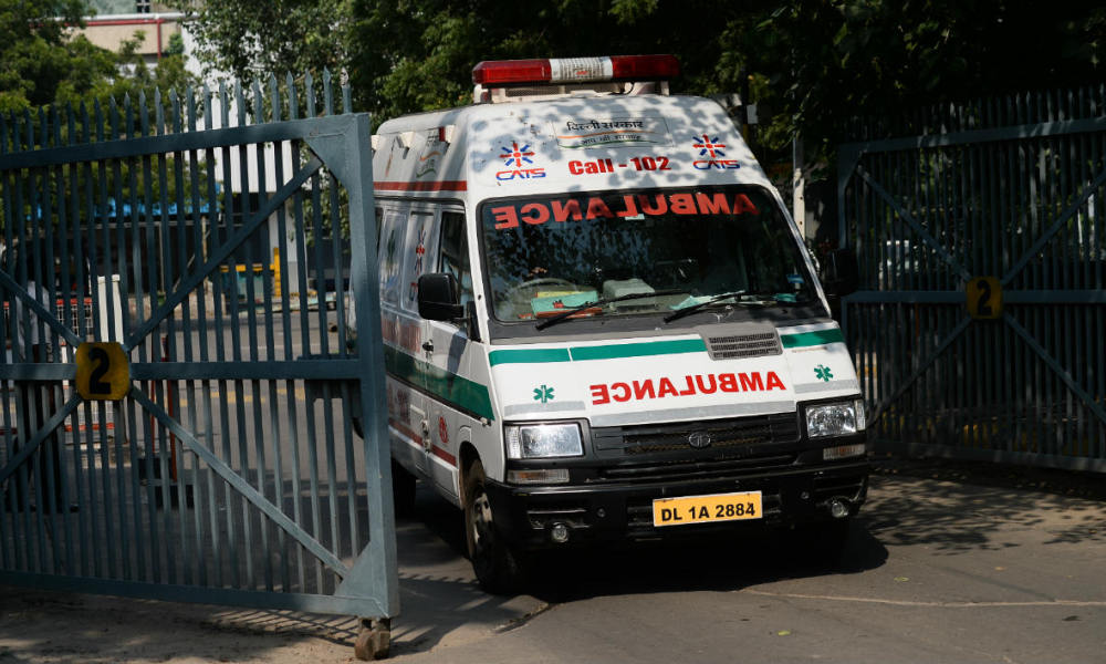 Ambulance en Inde (illustration)