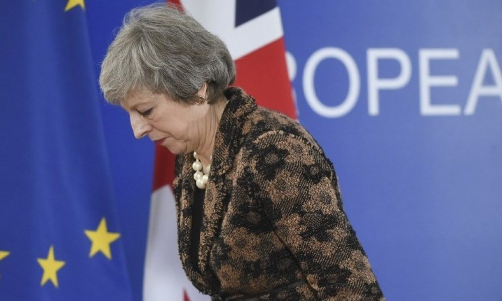 theresa may conf presse bruxelles