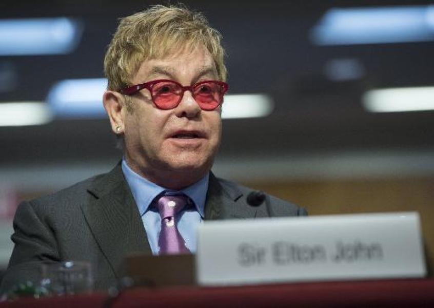 Le chanteur britannique Elton John à Washington le 6 mai 2015