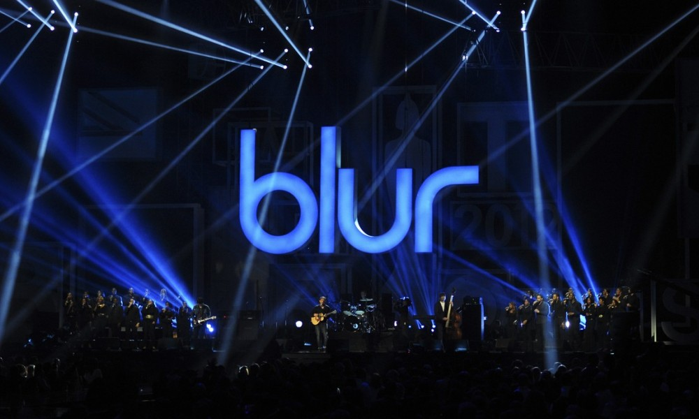 Blur lors des BRIT Awards 2012, à Londres.