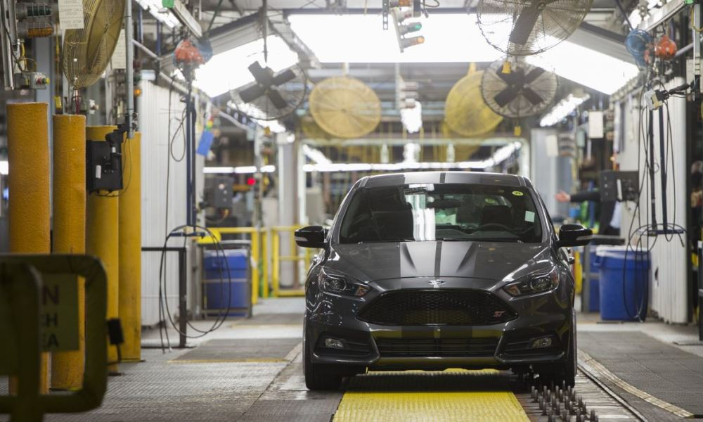 Une Ford Focus provenant de l'usine Ford du Michigan