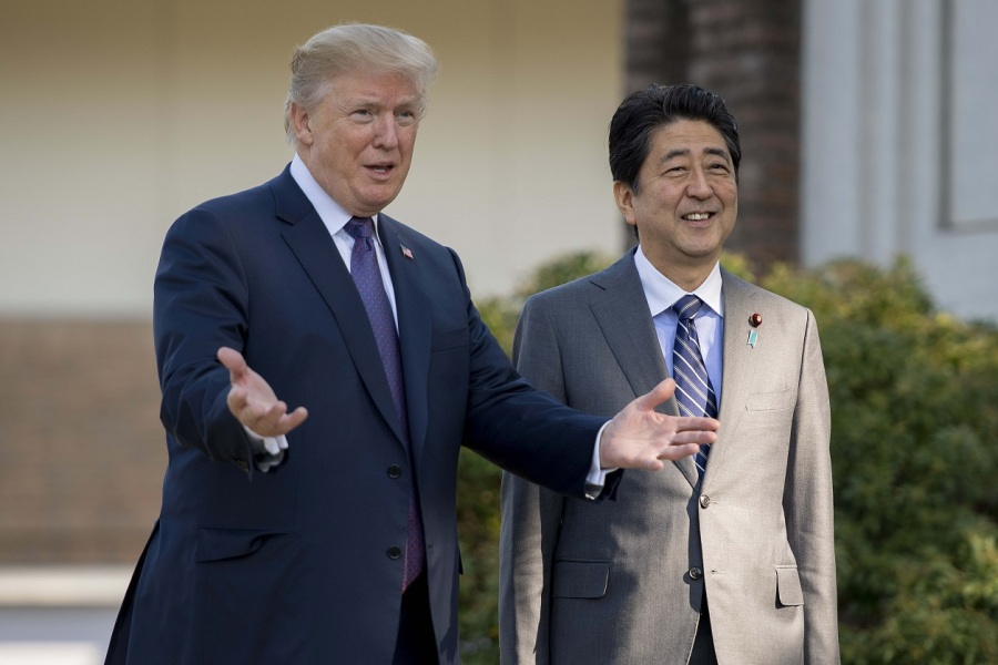 Donald Trump et Shinzo Abe