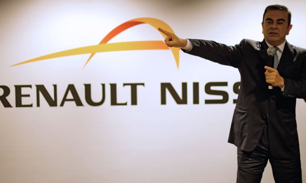 Carlos Ghosn , le PDG de l'alliance Renault-Nissan