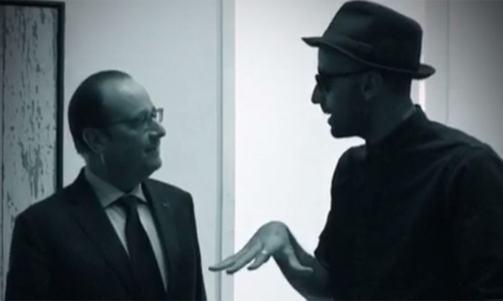 François Hollande rencontre l'artiste JR