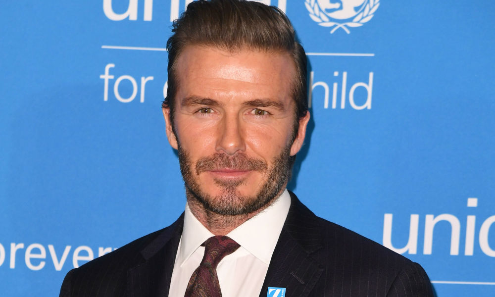 David Beckham à l'ONU à New York en 2016