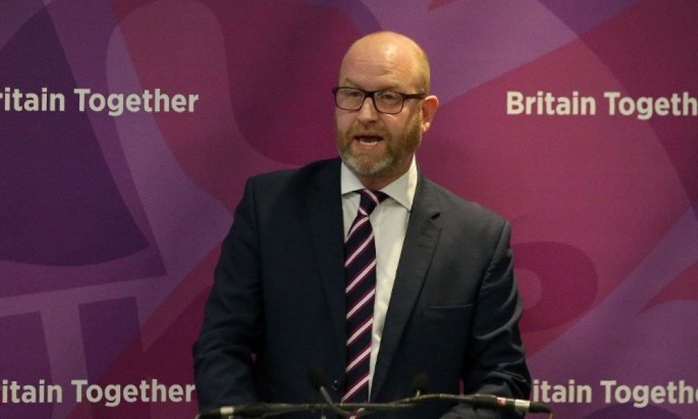 UK Independence Party (UKIP) leader Paul Nuttall speaks during the launch of the party's general election manifesto in central London on May 25, 2017. Britain goes to the polls on June 8 to elect a new parliament in a general election. Daniel LEAL-OLIVAS / AFP