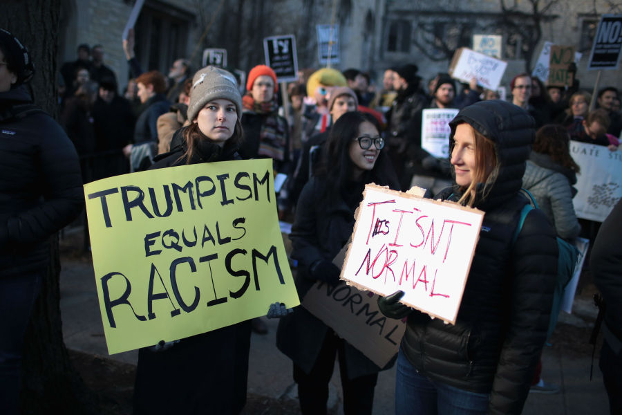 Une manifestation anti-Trump organisée à Chicago, ce mercredi. (Photo d'illustration)