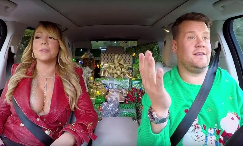 "Mariah Carey et James Corden dans le ""Carpool karaoke"""