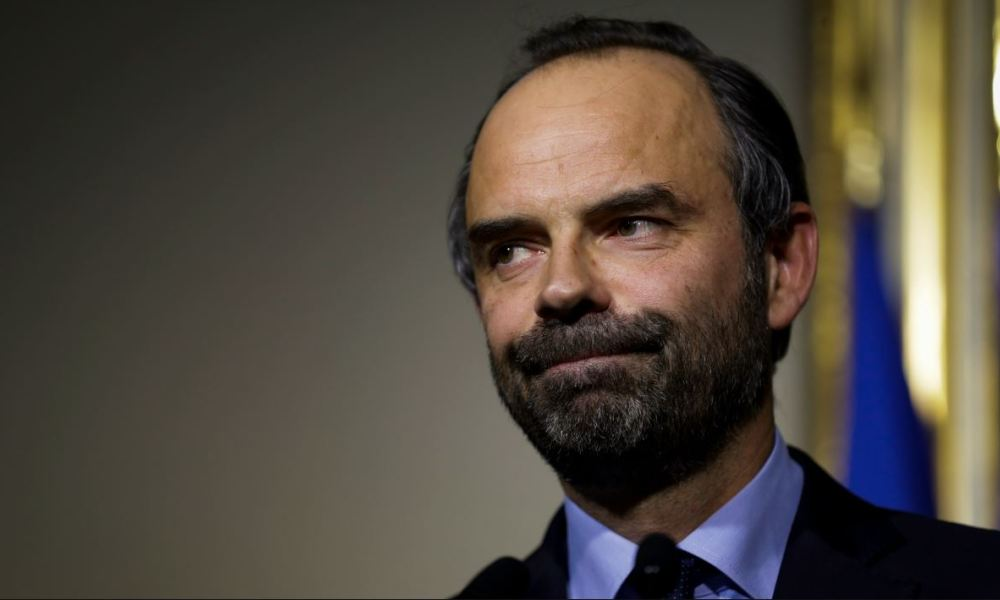 French Prime Minister Edouard Philippe holds a press confrerence after a meeting with associations representatives about France's asylum and immigration policy, at the Hotel Matignon in Paris, on December 21, 2017.  Thomas Samson / AFP