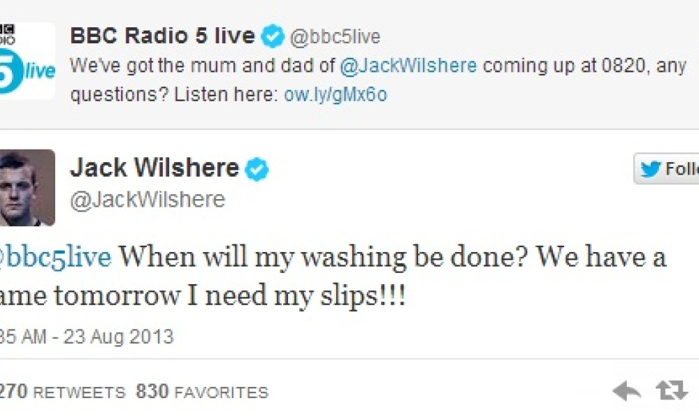 Wilshere réclame ses slips