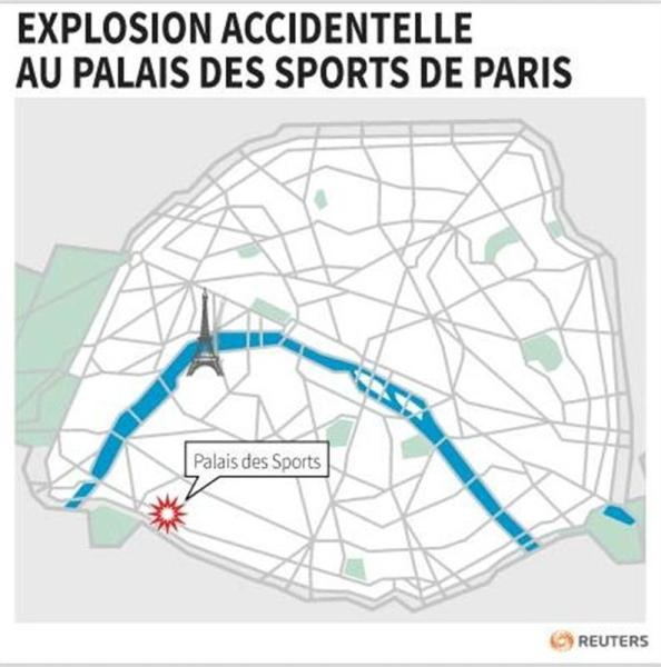 EXPLOSION ACCIDENTELLE AU PALAIS DES SPORTS DE PARIS