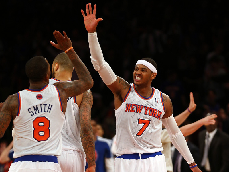 JR Smith et Carmelo Anthony