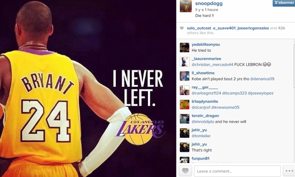 Snoop Dogg taille gentiment LeBron