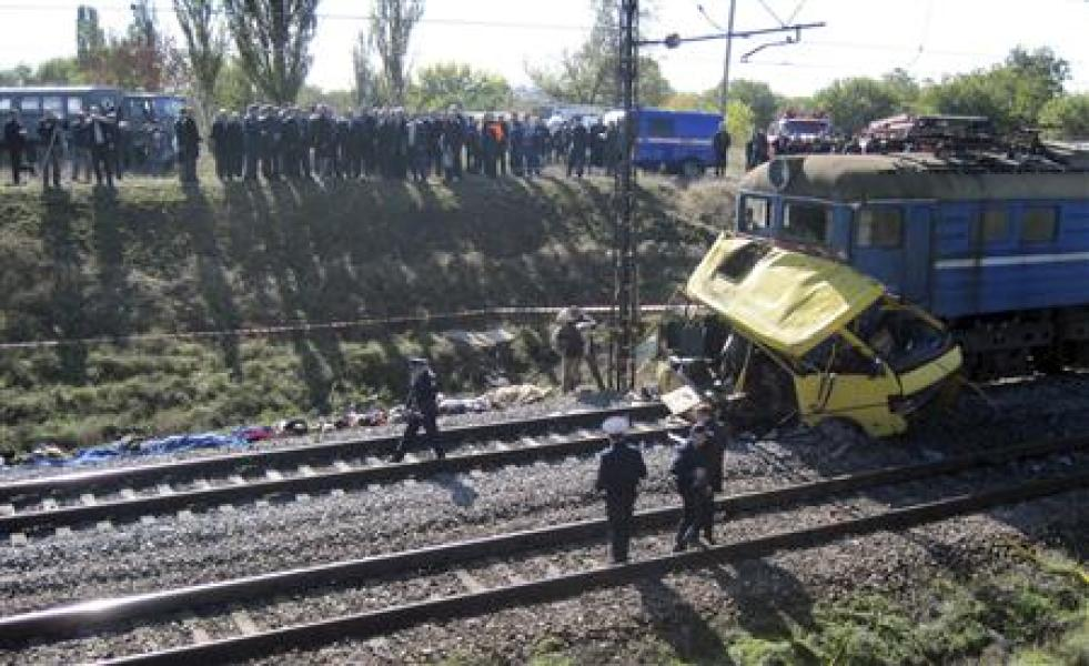 Collision meurtrière en ukraine entre un train et un bus