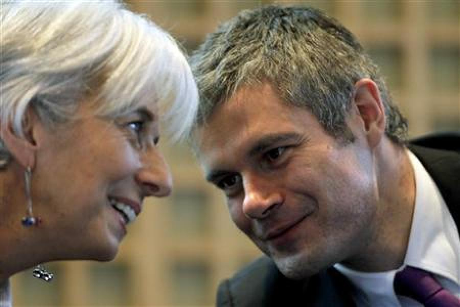 Christine lagarde et laurent wauquiez à tunis sans michèle alliot-marie