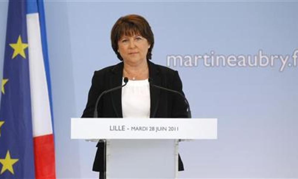 "Martine aubry veut ""redresser la france"""
