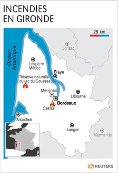 Incendies en gironde