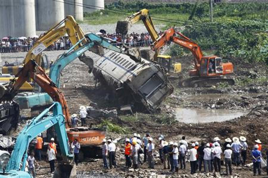 Collision entre deux trains en chine