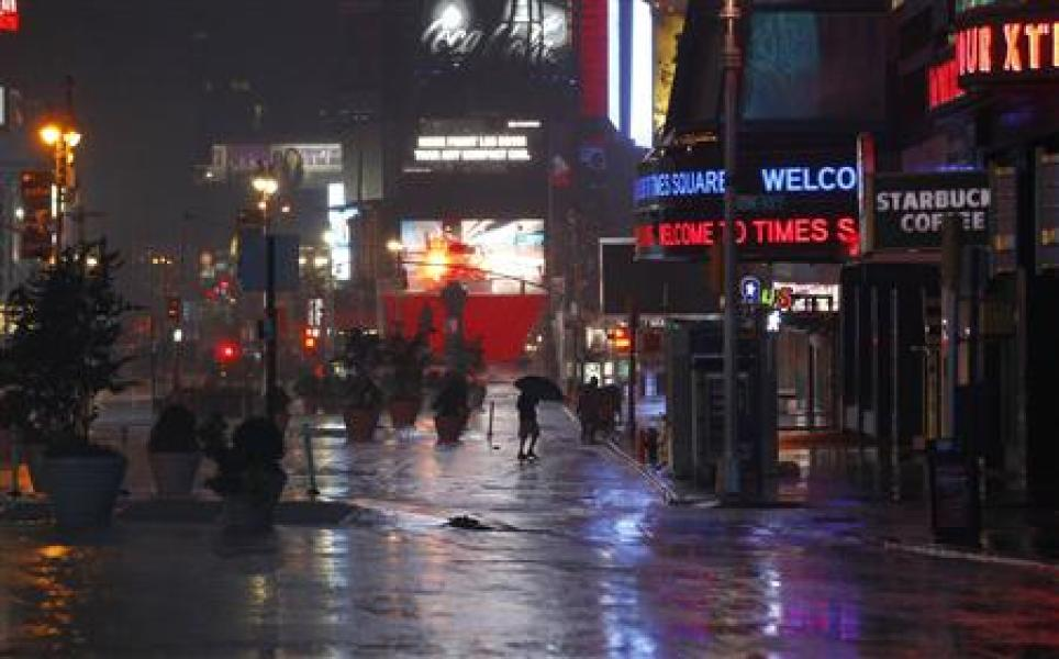 L'ouragan irene arrive à new york