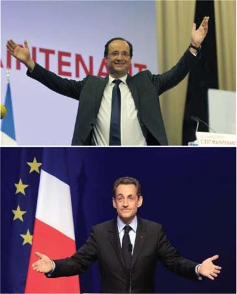 Un duel hollande-sarkozy au second tour